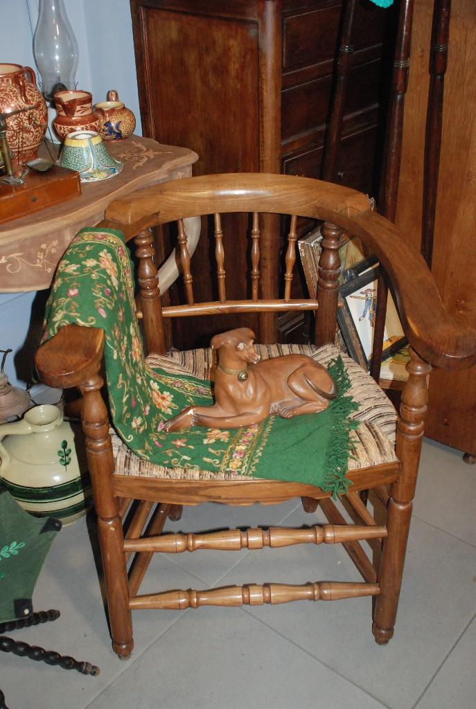 Antigüedades: MUY BONITA PAREJA DE SILLAS BUTACAS DE ROBLE CON ASIENTO DE ENEA - Foto 9 - 104942007