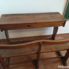 Antigüedades: PUPITRE DOBLE ANTIGUO. Lote 104943735