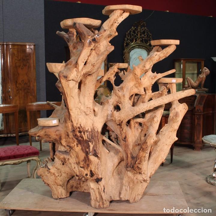 Antigüedades: Florero indonesiano en raíz de manglar - Foto 10 - 104948899