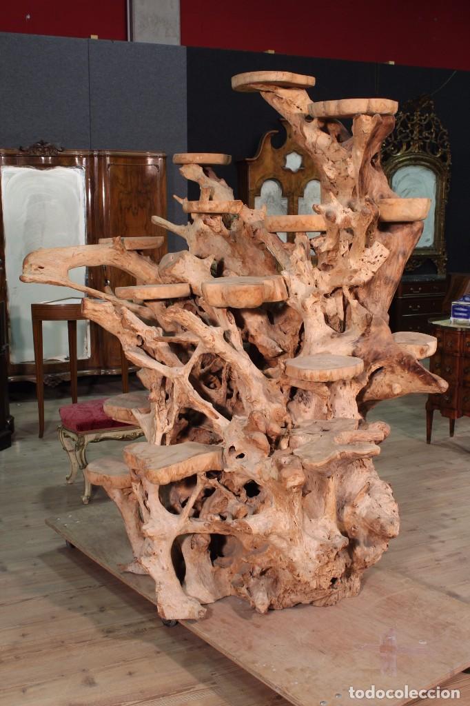 Antigüedades: Florero indonesiano en raíz de manglar - Foto 11 - 104948899
