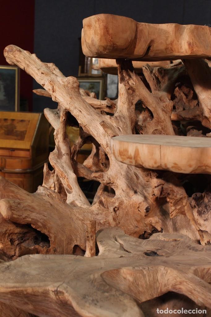 Antigüedades: Florero indonesiano en raíz de manglar - Foto 12 - 104948899
