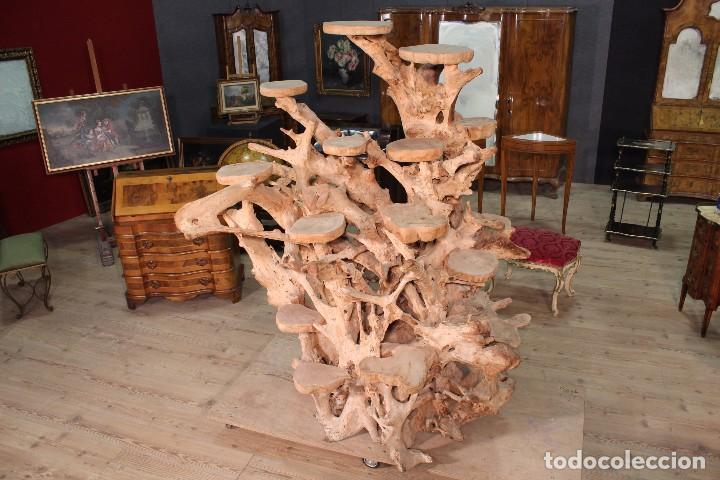 Antigüedades: Florero indonesiano en raíz de manglar - Foto 13 - 104948899