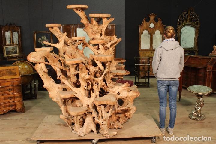 Antigüedades: Florero indonesiano en raíz de manglar - Foto 14 - 104948899