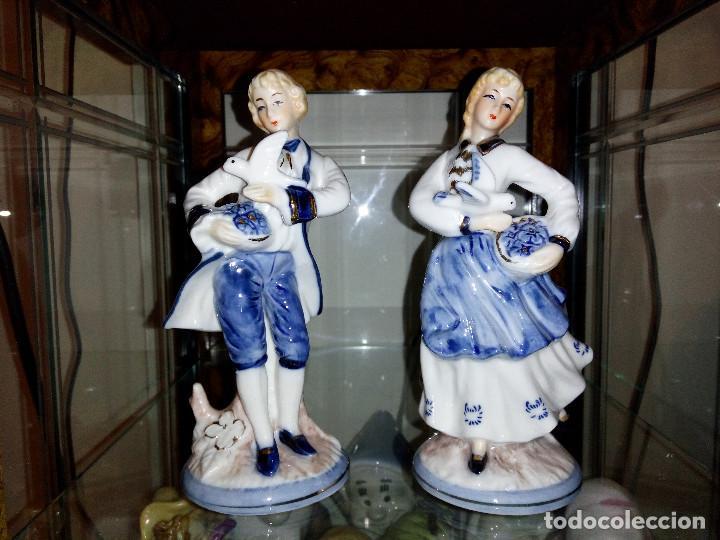 PAREJA PORCELANA (Antigüedades - Porcelanas y Cerámicas - Otras)