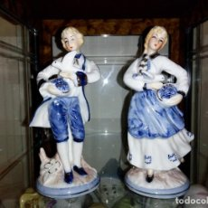 Antigüedades: PAREJA PORCELANA. Lote 104952591