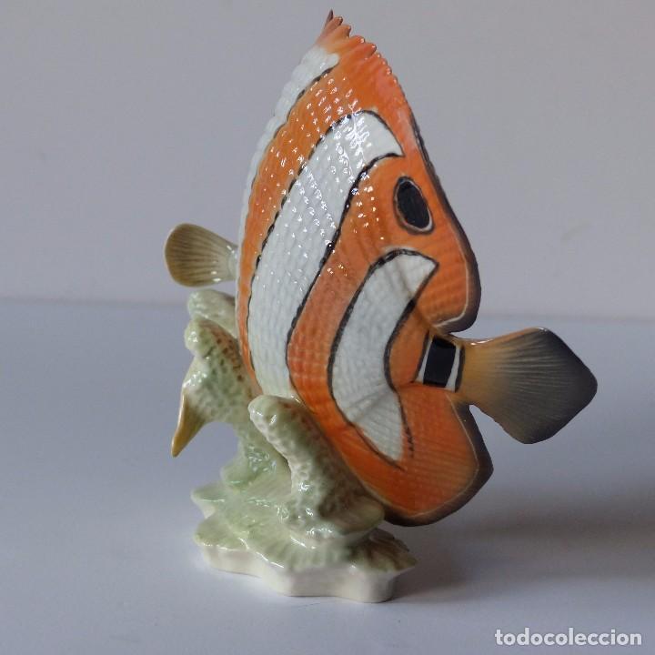 Antigüedades: Figura de porcelana Göbel. Pez. Alemania 1960 - 1970 - Foto 3 - 104958731