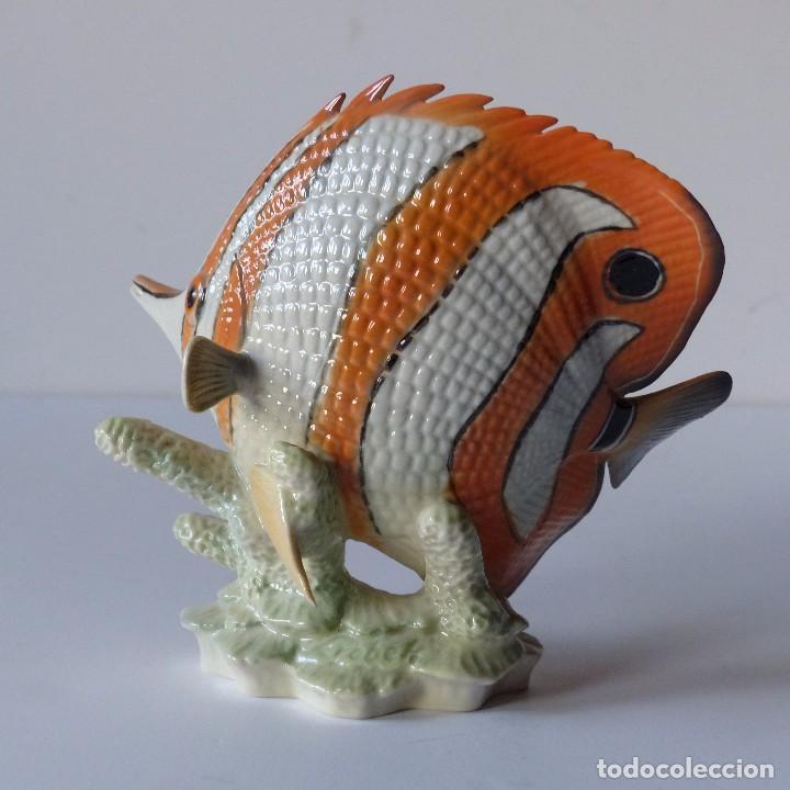 Antigüedades: Figura de porcelana Göbel. Pez. Alemania 1960 - 1970 - Foto 4 - 104958731