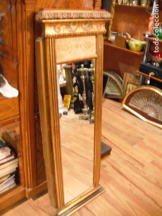Espejo de madera puerta rectangular con marco comprar for Espejo rectangular con marco
