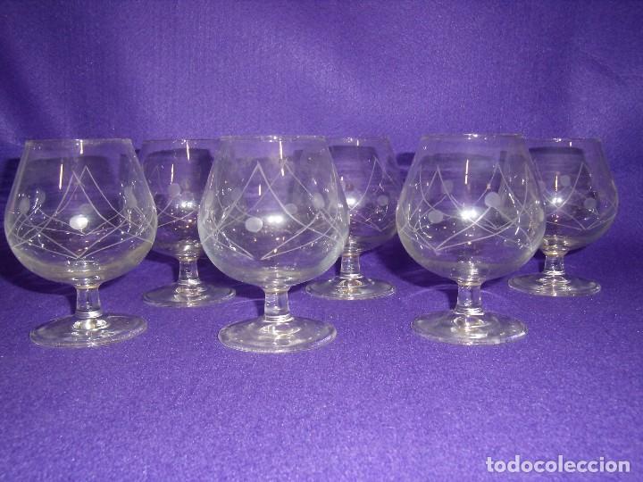 Antigüedades: Cristalería cristal tallado al ácido, de Vicrila España, 61 piezas, años 80, Nueva cajas originales. - Foto 2 - 104976959