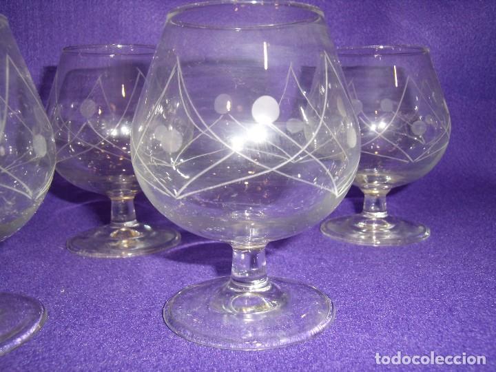 Antigüedades: Cristalería cristal tallado al ácido, de Vicrila España, 61 piezas, años 80, Nueva cajas originales. - Foto 3 - 104976959