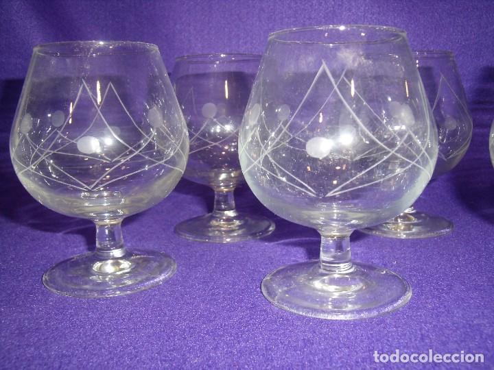 Antigüedades: Cristalería cristal tallado al ácido, de Vicrila España, 61 piezas, años 80, Nueva cajas originales. - Foto 4 - 104976959