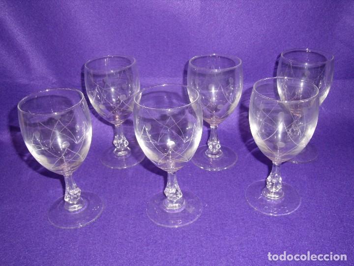 Antigüedades: Cristalería cristal tallado al ácido, de Vicrila España, 61 piezas, años 80, Nueva cajas originales. - Foto 5 - 104976959