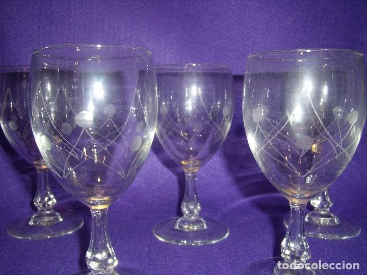 Antigüedades: Cristalería cristal tallado al ácido, de Vicrila España, 61 piezas, años 80, Nueva cajas originales. - Foto 6 - 104976959