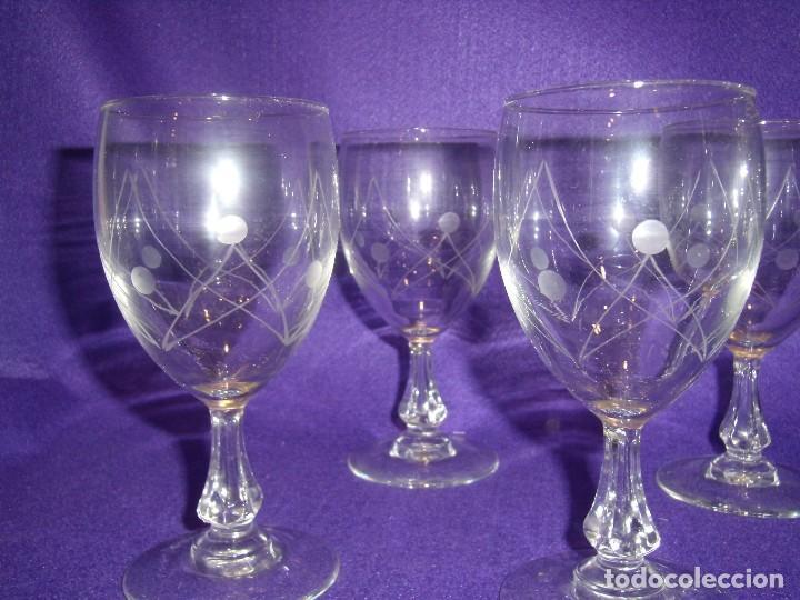 Antigüedades: Cristalería cristal tallado al ácido, de Vicrila España, 61 piezas, años 80, Nueva cajas originales. - Foto 7 - 104976959