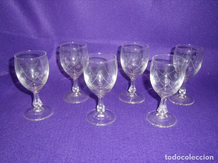 Antigüedades: Cristalería cristal tallado al ácido, de Vicrila España, 61 piezas, años 80, Nueva cajas originales. - Foto 8 - 104976959