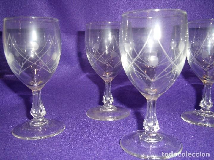 Antigüedades: Cristalería cristal tallado al ácido, de Vicrila España, 61 piezas, años 80, Nueva cajas originales. - Foto 10 - 104976959