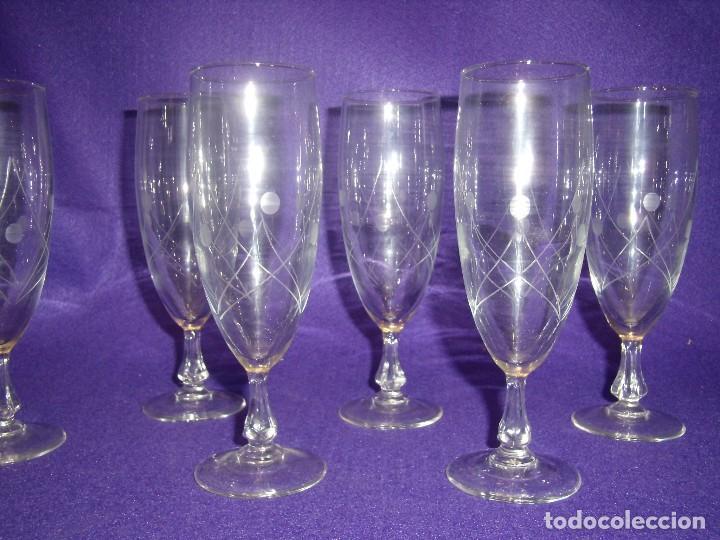 Antigüedades: Cristalería cristal tallado al ácido, de Vicrila España, 61 piezas, años 80, Nueva cajas originales. - Foto 12 - 104976959