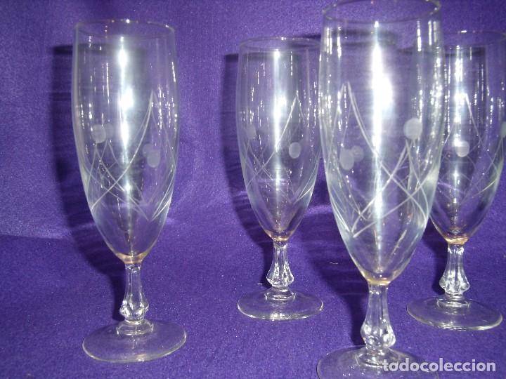 Antigüedades: Cristalería cristal tallado al ácido, de Vicrila España, 61 piezas, años 80, Nueva cajas originales. - Foto 13 - 104976959