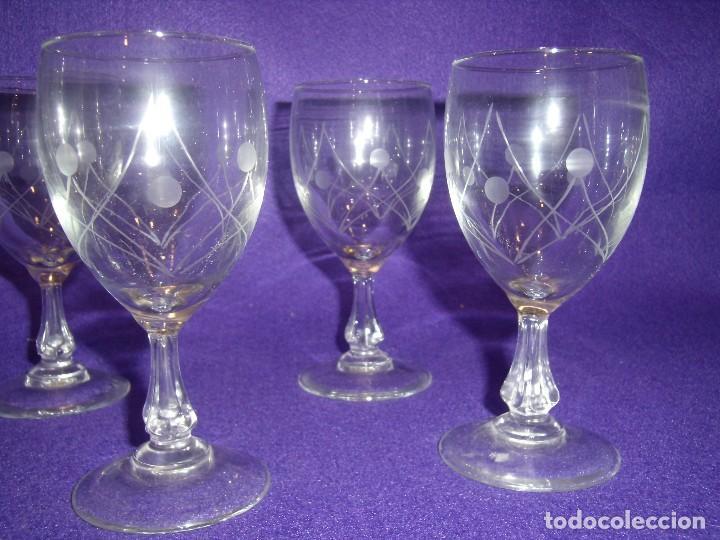 Antigüedades: Cristalería cristal tallado al ácido, de Vicrila España, 61 piezas, años 80, Nueva cajas originales. - Foto 15 - 104976959