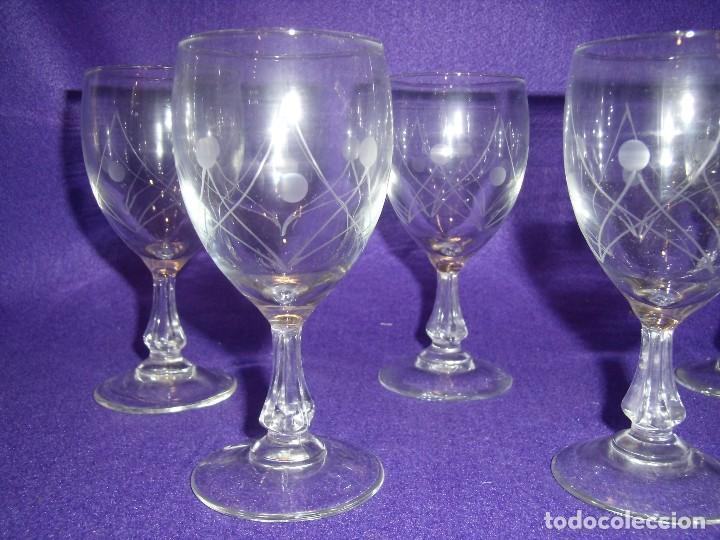 Antigüedades: Cristalería cristal tallado al ácido, de Vicrila España, 61 piezas, años 80, Nueva cajas originales. - Foto 16 - 104976959