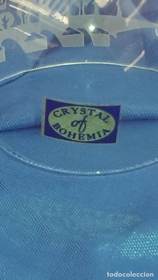 Antigüedades: Campana cristal bohemia decorativa tallada a mano Praga - Foto 4 - 105012135