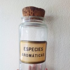 Antigüedades: ANTIGUO BOTE TARRO FRASCO ESPECIES AROMATICAS FARMACIA COCINA. Lote 105012870