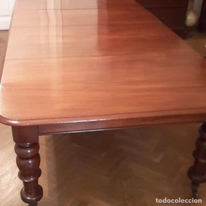 Antigüedades: Mesa Comedor Inglesa Extensible Victoriana de Caoba, s.XIX - Foto 2 - 105026439