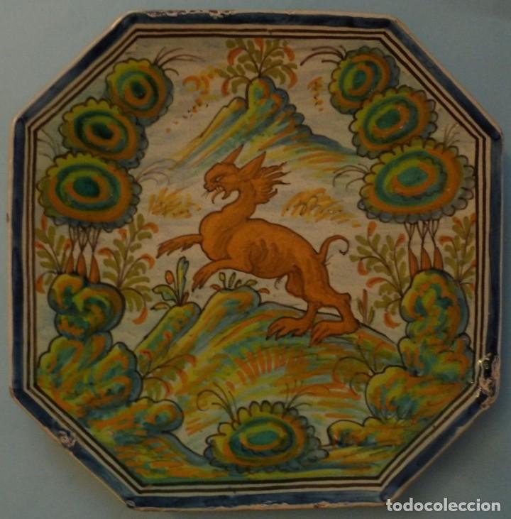 ANTIGUA BANDEJA DE CERÁMICA - PUENTE DEL ARZOBISPO S.XIX (Antigüedades - Porcelanas y Cerámicas - Puente del Arzobispo )