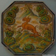 Antigüedades: ANTIGUA BANDEJA DE CERÁMICA - PUENTE DEL ARZOBISPO S.XIX. Lote 105029147