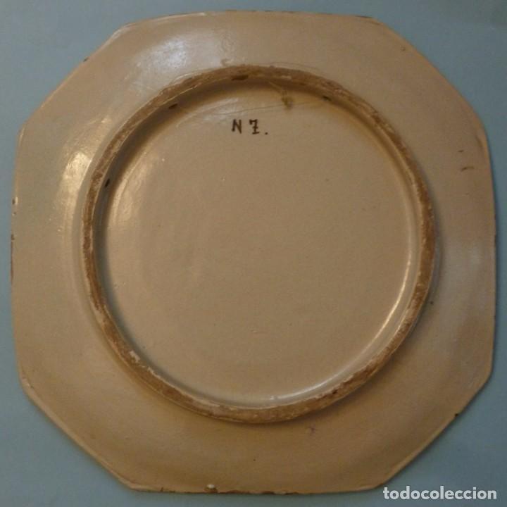 Antigüedades: ANTIGUA BANDEJA DE CERÁMICA - PUENTE DEL ARZOBISPO S.XIX - Foto 2 - 105029147