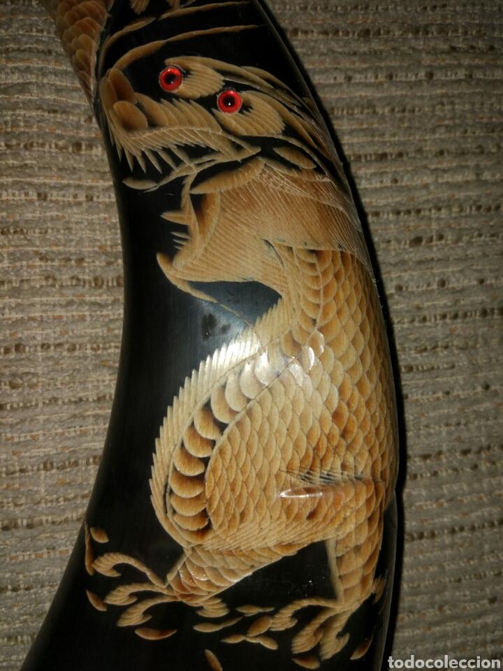 Antigüedades: Cuernos de bufalo tallados - Foto 4 - 105029375
