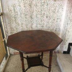 Antigüedades: VELADOR MUY ANTIGUO OCTOGONAL BIEN CONSERVADO. PIEZA PRECIOSA. Lote 105047463