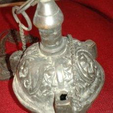 Antigüedades: ANTIGUO INCENSARIO DE BRONCE CON GRABADO EN SU TOTALIDAD. Lote 105058711
