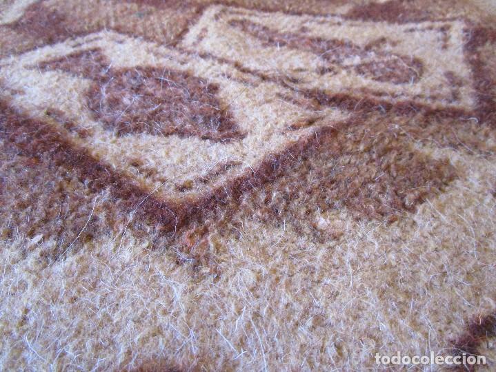 Antigüedades: antigua manta de lana tema juego cartas 220 cm x 190 cm - Foto 7 - 105073339