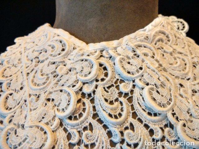 ANTIGUA FALSA CAMISA ESTILO GUIPUR (Antigüedades - Moda y Complementos - Mujer)