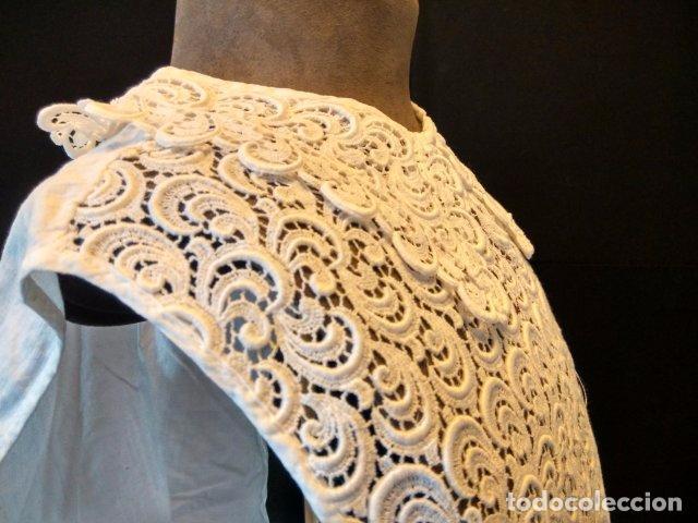Antigüedades: ANTIGUA FALSA CAMISA ESTILO GUIPUR - Foto 2 - 105098511