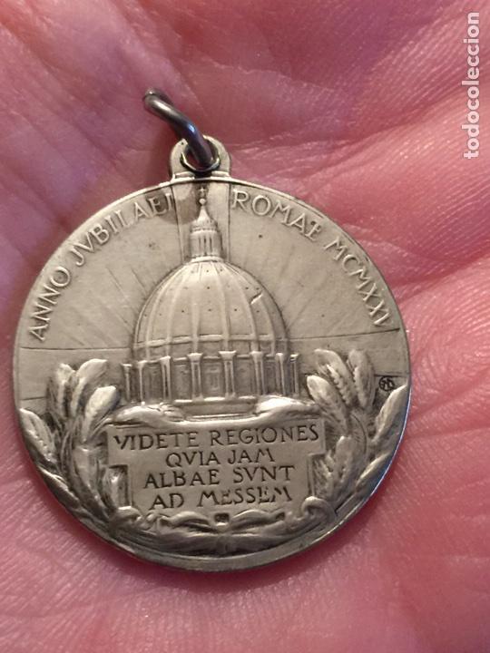 Antigüedades: Vaticano Medalla de Plata ANNO JUBILAEI Romae 1925 Papa Pio XI Jubileo Anno santo - Foto 2 - 105115004