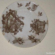 Antigüedades: PRECIOSO PLATO CON DECORACION CHINA. Lote 105119395