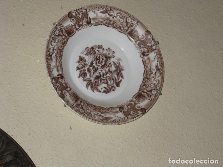 PRECIOSO PLATO DECORADO (Antigüedades - Hogar y Decoración - Platos Antiguos)