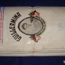 Antigüedades: TELA ANTIGUA SUCRA DE COMA Y CROS S. A. GUILLERMINA, 25 METROS DE 80CM DE ANCHO. Lote 105121611