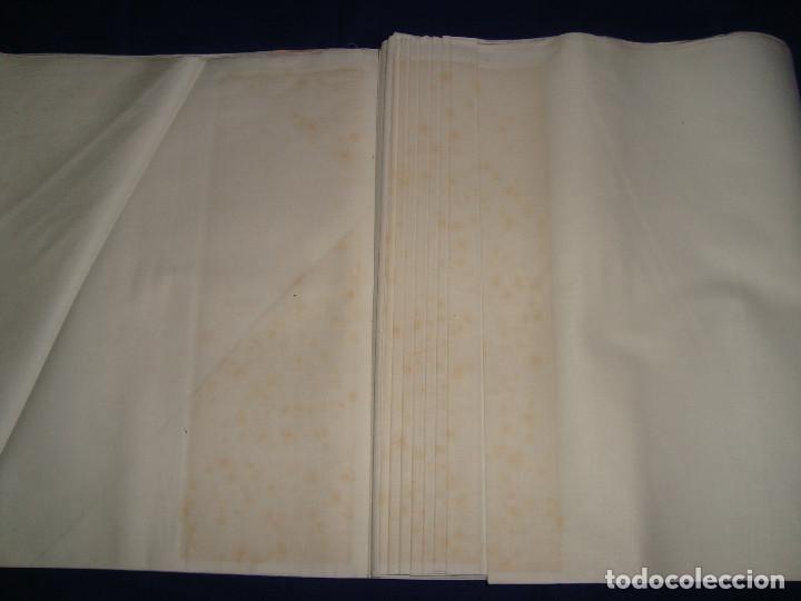 Antigüedades: TELA ANTIGUA SUCRA DE COMA Y CROS S. A. GUILLERMINA, 25 METROS DE 80CM DE ANCHO - Foto 5 - 105121611