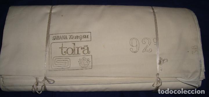 TELA ANTIGUA FUNDAS DE ALMOHADA TERGAL DE TOLRA 25 METROS DE 92CM DE ANCHO (Antigüedades - Hogar y Decoración - Sábanas Antiguas)