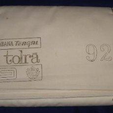Antigüedades: TELA ANTIGUA FUNDAS DE ALMOHADA TERGAL DE TOLRA 25 METROS DE 92CM DE ANCHO. Lote 105122071