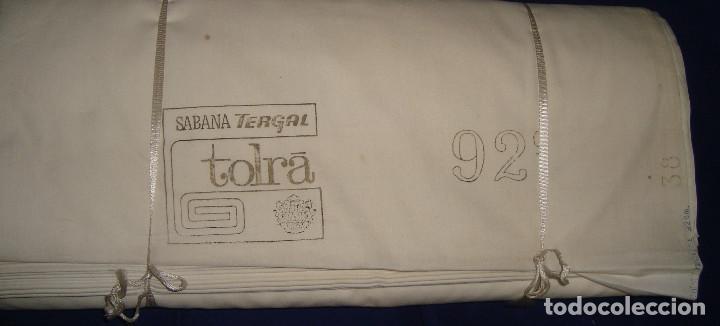Antigüedades: TELA ANTIGUA FUNDAS DE ALMOHADA TERGAL DE TOLRA 25 METROS DE 92CM DE ANCHO - Foto 4 - 105122071