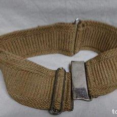 Antigüedades: ANTIGUO CINTURÓN CON CIERRE DE HEBILLA METALICA. Lote 105156963