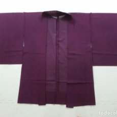 Antiquitäten - JAPON ANTIGUO kimono Japones, HAORI de seda , COLOR PURPURA, MUY ELEGANTE, GEISHAS , MUJER - 105158043