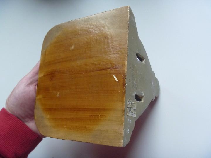 Antigüedades: Mensula peana madera escayola dorada para imagen MAS REGALO PEQUEÑA PEANA MADERA - Foto 3 - 105168023