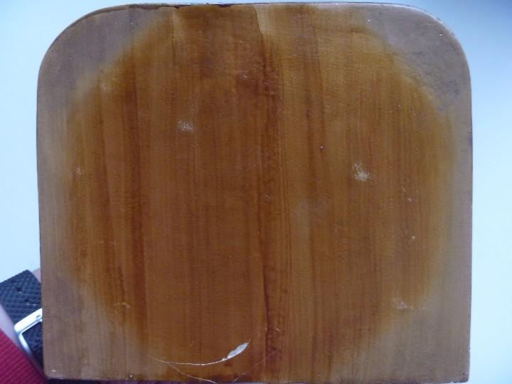 Antigüedades: Mensula peana madera escayola dorada para imagen MAS REGALO PEQUEÑA PEANA MADERA - Foto 6 - 105168023