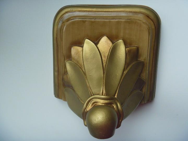 Antigüedades: Mensula peana madera escayola dorada para imagen MAS REGALO PEQUEÑA PEANA MADERA - Foto 9 - 105168023