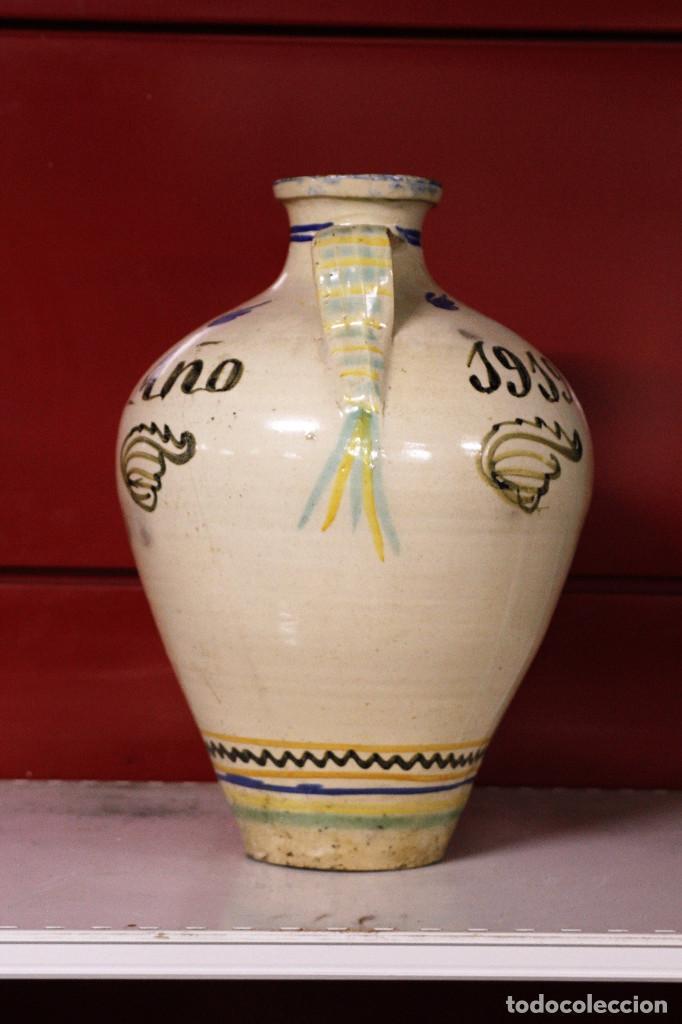 Antigüedades: Jarron de cerámica. Puente del Arzobispo. 1919 - Foto 3 - 105190071